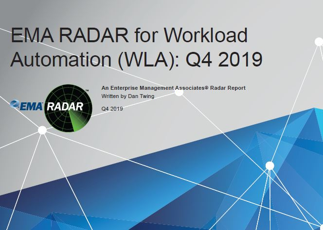 EMA RADAR for Workload Automation WLA Q4 2019