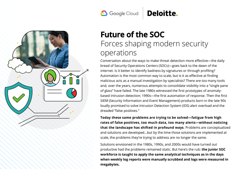 Future of the SOC Forces shaping modern security operations