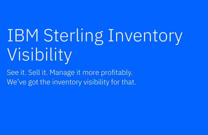 IBM Sterling Inventory Visibility Solution Brief
