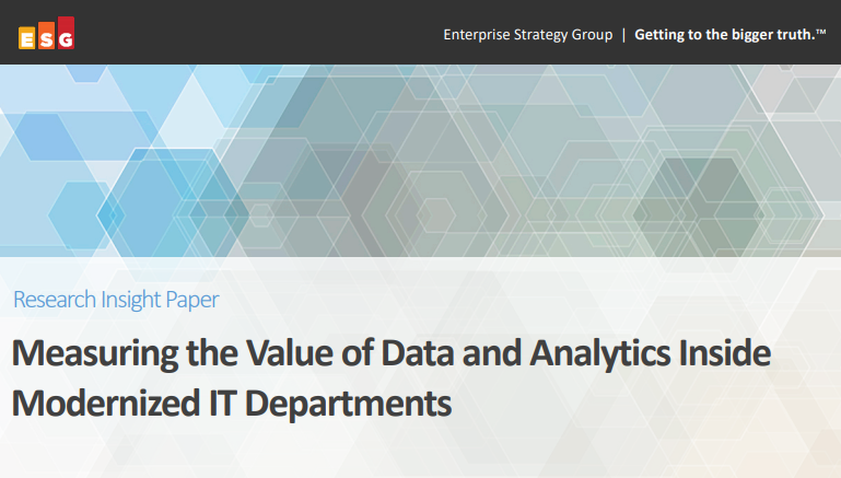Measuring the Value of Data and Analytics Inside Modernized IT Departments