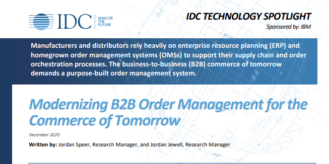 Modernizing B2B Order Management for the Commerce of Tomorrow