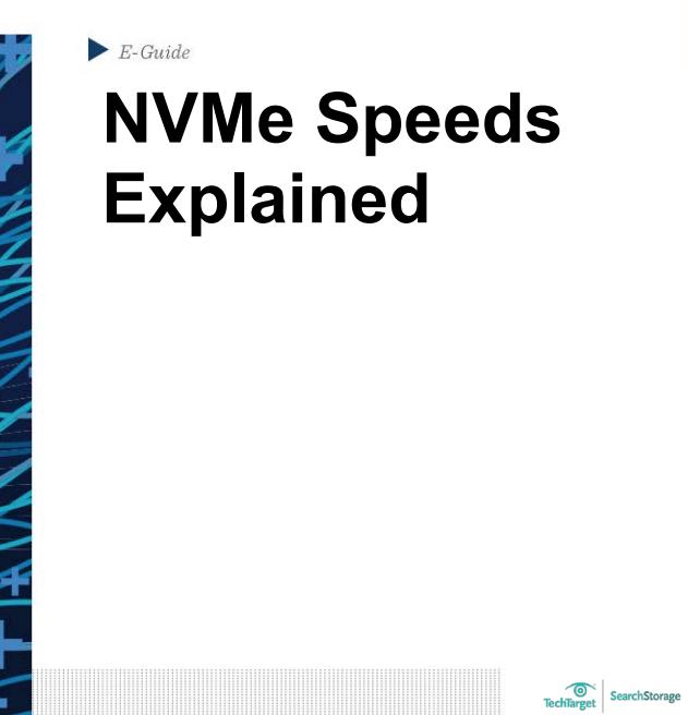 NVMe Speeds Explained