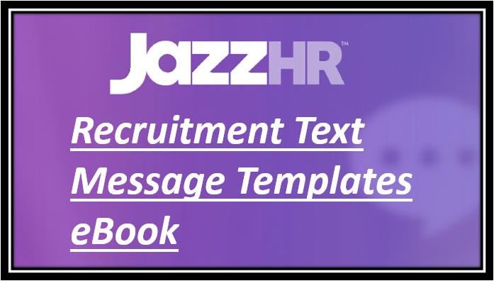 Recruitment Text Message Templates eBook