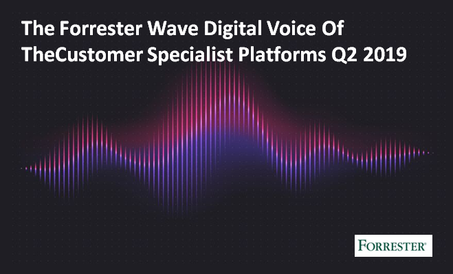 The Forrester Wave Digital Voice Of TheCustomer Specialist Platforms Q2 2019