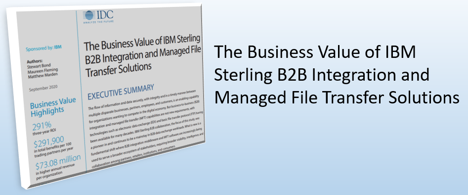The Business Value of IBM Sterling B2B Integration and Managed File Transfer Solutions