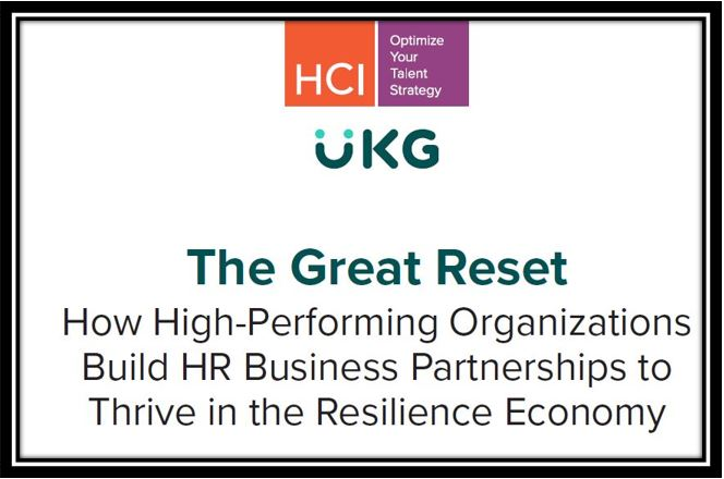 The Great Reset How High-Performing Organizations Build HR BusinessPartnerships