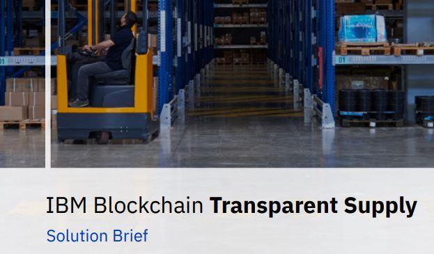 Blockchain Transparent Supply Solution Brief