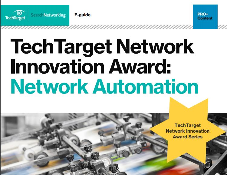 TechTarget Network Innovation Award Network Automation
