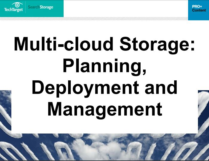 Download Free White Paper on  Multi cloud Storage Planning Deployment and Management